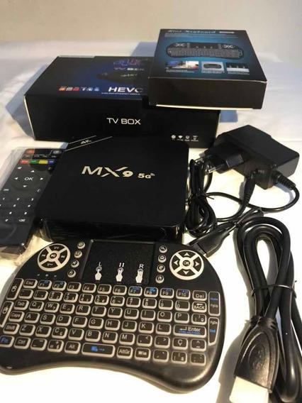 Kit Tv Box Mx9 Hevc 32gb Interno 4 Aparelhos