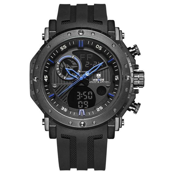 Wh6903 Moda Silicone Cinto Duplo Movimento Quartz Relógio C