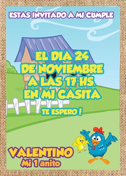 Invitaciones Gallina Pintadita Fiesta Kits Imprimibles