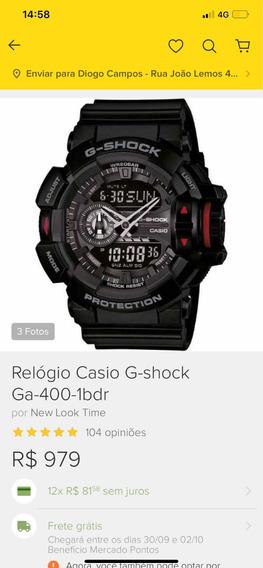 Relógio G Shock Muito Conservado, Caixa E Manual