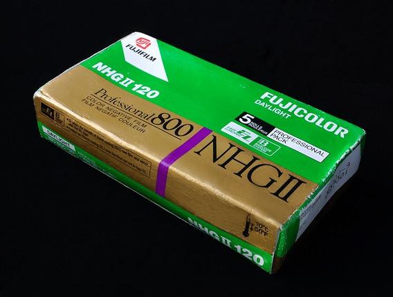 Filmes Fujicolor Nhg-ll Asa800, 4 Unid Formato 120 Venc 2002
