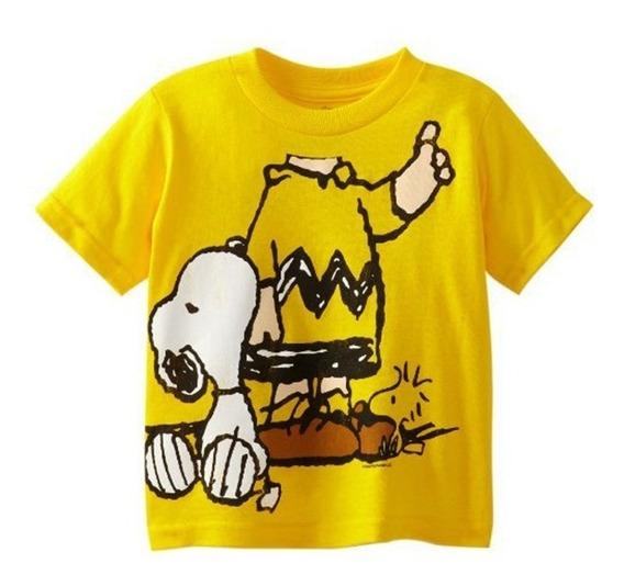 Camiseta O Playera Charlie Brown Snoopy Peanuts Edicion Gold
