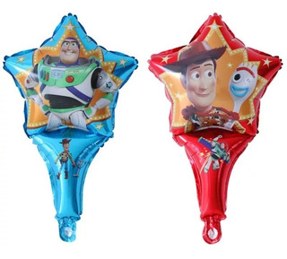 20 Globos Toy Story 4 De Mano Woody Buzz Forky Candy Bar