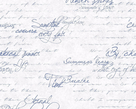 Papel Muresco Vinilizado Letras Cursivas 37251 Soul