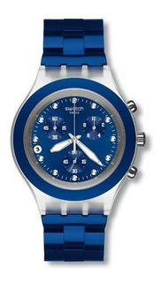 Reloj Swatch Full Blooded Navy Svck4055ag Agente Oficial