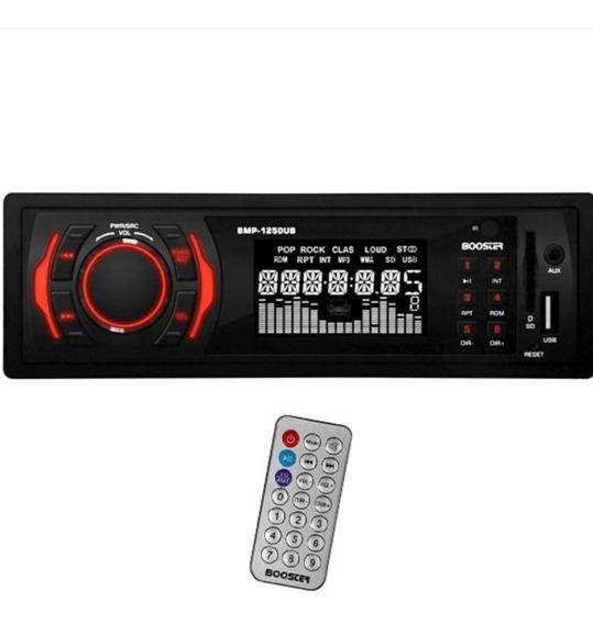 Toca Rádio Automotivo Booster Bmp-1250ub Com Usb/auxiliar/le
