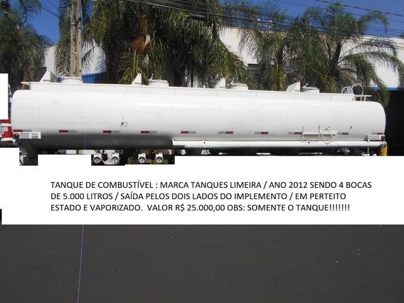 Tanque Pipa 20.000 Litros 2012 4 Bocas De 5.000 Litros