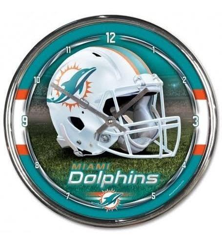 Reloj De Pared Miami Dolphins Original Nfl