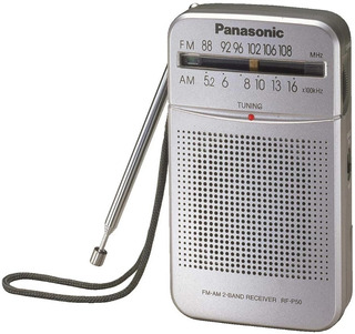 Radio De Bolsillo Panasonic Am Fm + Auriculares + Parlante Ultimo Modelo