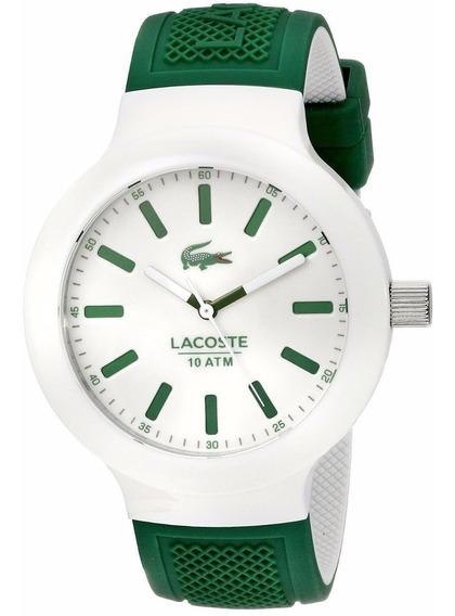 Reloj Lacoste Borneo Silicón Color Verde Hombre 2010816