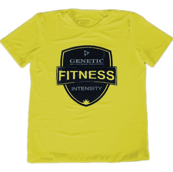 Remera Entrenamiento Hidrofuga Dry Gen Run Genetic Yellow