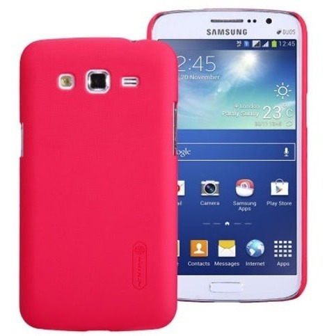 Carcasa Frosted Shield Galaxy Grand Duos Color Rojo