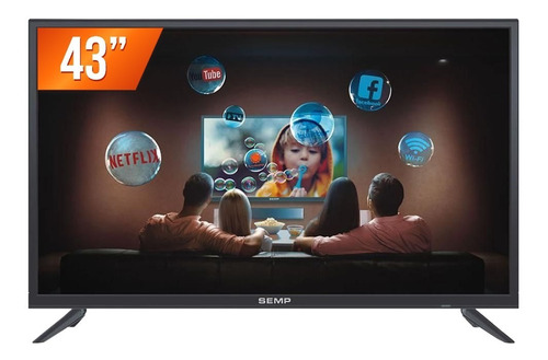 Smart Tv Led 43'' Full Hd Semp S3900fs Hdmi Usb Wi-fi