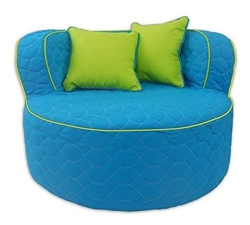 Muebles Divertidos 95722 Throw Back Chair, Aqua / Lime