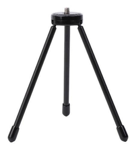 Imagen 1 de 6 de Tripode Metal 14cm Universal Rosca 1/4 Mesa Celular Camara