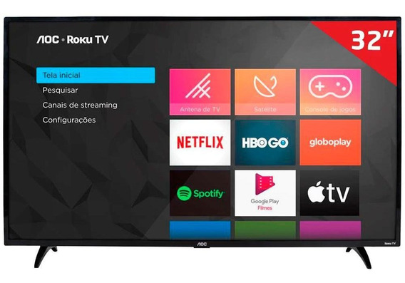 Smart Tv Led 32 Aoc Roku S5195/78g, Hd Hdmi Usb E Wi-fi