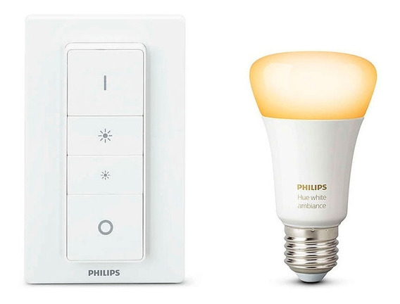 Philips Hue Led Kit 1 Lámpara Ambiance 10w A19 E26 + Dimmer