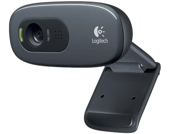 Logitech C270 Webcam Hd 720p 3mp Lacrada Original C/ Nota
