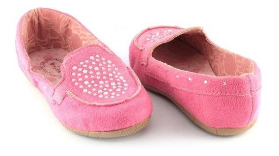 Mocassim Infantil Pink Pérolas Nº 27