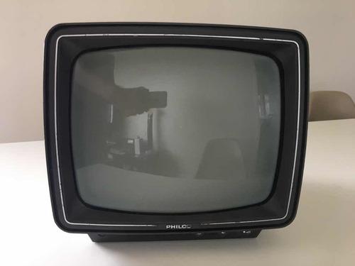 Tv Philco Deluxe 12 Pb12a1 Preto Branco Antiga Funcionando