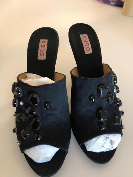 Zapatos De Fiesta Negro Kenzo Original 40 C Brillos. Ss