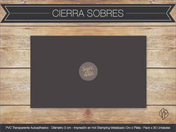 Stickers Cierra Sobres Circulares (30u)- Casamientos-15 Años
