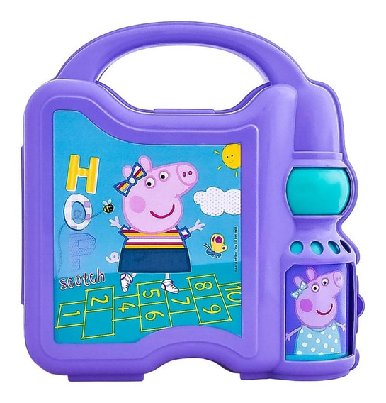 Lonchera Peppa Pig Niña Infantiles Botella Cilindro Agua