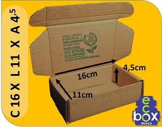 50 Caixas De Papelão Correios - 16*11*4,5 - Menor Frete
