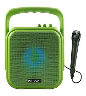 Parlante Portátil Bluetooth Panacom + Micrófono Batería 3048