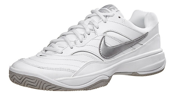 Tênis Nike Feminino Court Lite Branco E Cinza