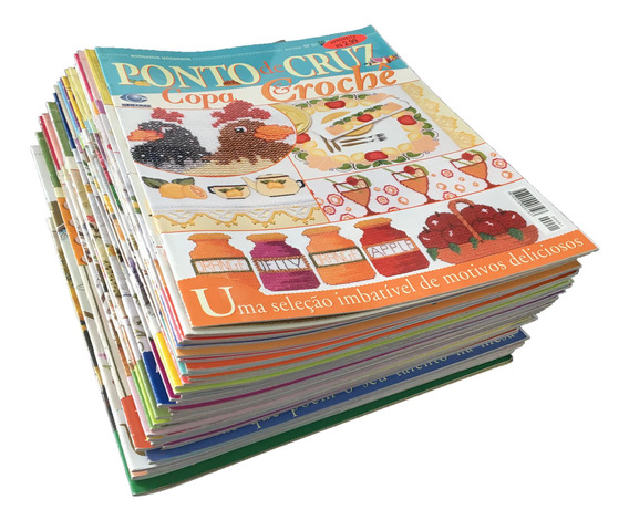 Bordados Modernos Ponto De Cruz & Crochê 45 Revistas