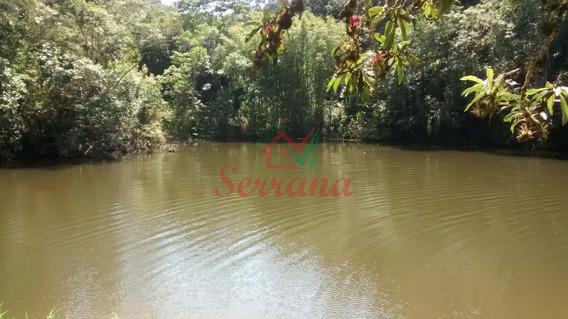 Chácara C/ Grande Lago Cheio De Peixes 3 Casas Lindo Terreno