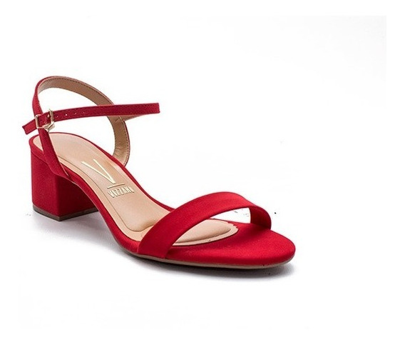 Sandalias Nobuk Taco Medio Zapatos Vizzano Dama