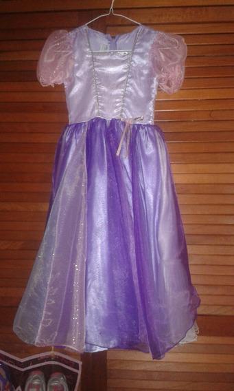 Vestido Niña Disfraz Princesa Rapunzel Talla 6