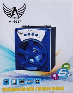 Caixa Caixinha De Som Portatil Bluetooth Usb Radio Fm