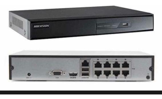 Kit Hikvision Nvr 4 Mp Ds-7108ni-q1/8p/m + Cam Ip