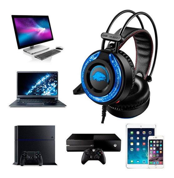 Fone Gamera5 Play4 Xbox Pc Ultra Bass Com Fio Usb P2 Wo
