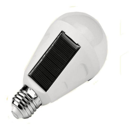 Lámpara Led Emergencia Luz Solar Recargable 9w Múnich