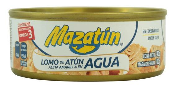 Atún Mazatún Aleta Amarilla En Agua 140 Gr
