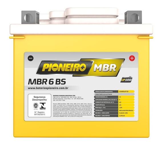 Bateria Moto Pioneiro Mbr6-bs 6ah 12v Fan 125 Es Xre 300 Ybr