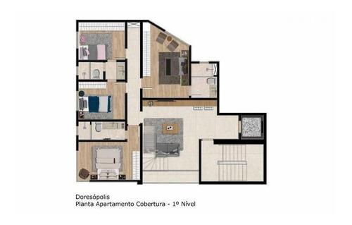 Imagem 1 de 5 de Cobertura Duplex À Venda, 4 Quartos, 2 Suítes, 2 Vagas, Fernao Dias - Belo Horizonte/mg - 2377