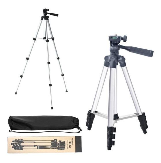 Tripé Telescópico Universal Câmera E Ring Light 1,20m +bolsa