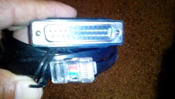 Cable Adaptador Serial Puerto Db25 Macho A Rj45 (red)