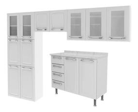 Cozinha Completa Criativa Branco Itatiaia Móveis