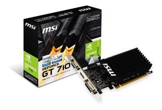 Placa Video Geforce Gt 710 1gb Lp Ddr3 Msi Hdmi Vga Dvi