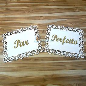 2 Placas, Cadeira Dos Noivos Par Perfeito/recém Casados