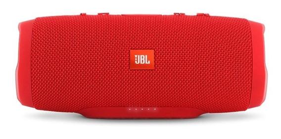 Caixa De Som Bluetooth Original Jbl Charge 3 Vermelho