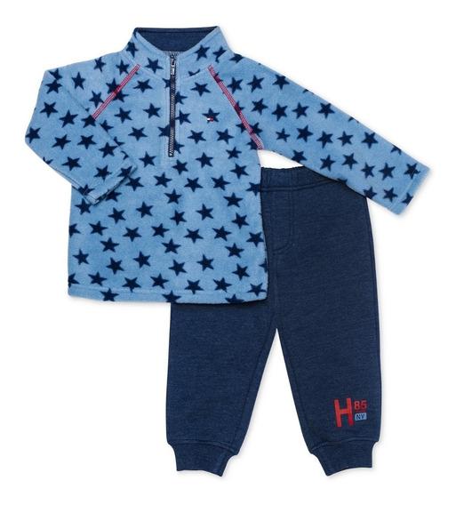 Conjunto Para Niño Tommy Hilfiger Azul Con Estrellas