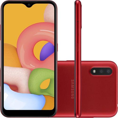 Smartphone Samsung Galaxy A01 Dual Sim 32gb 2gb Ram Vermelho