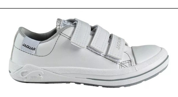 Zapatillas Jaguar Colegial Abrojo Art 420 Abrojos Blancas